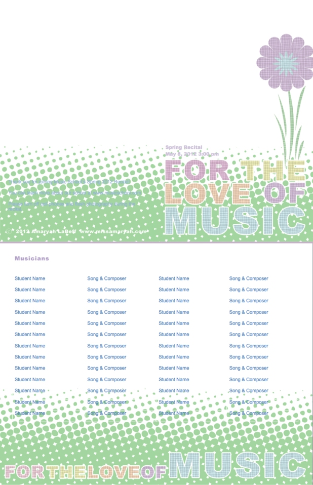 Free customizable recital program templates halloween pronofoot35fo Image collections